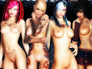3D Bad Girls +18 studentesse nude