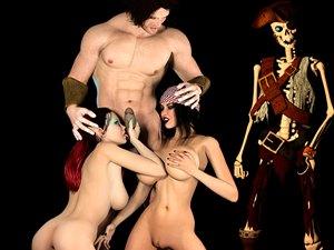 Pirate Jessica animazione mostro 3D