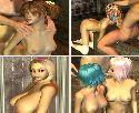 Cyber babes fare sesso