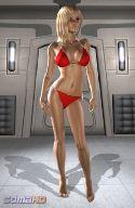 Virtuale ragazza bikini rosso